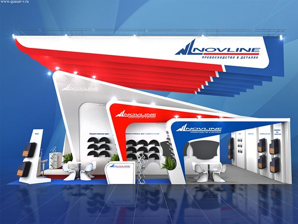 NovLine exhibition stand on Behance