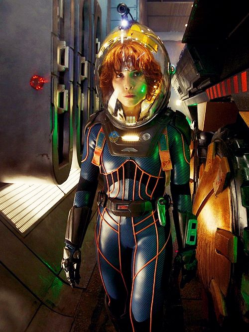 I was disappointed by this movie and her character in it, but damn that's a cool space suit.
