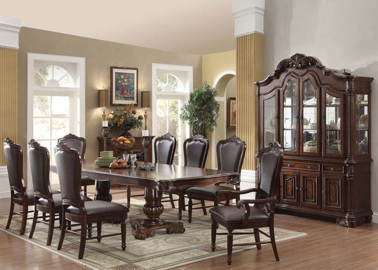 Acme 60370 KIT Judith Traditional Cherry Finish Dining Table Set