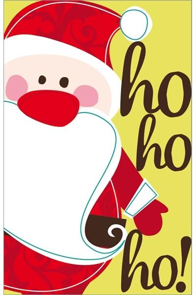 Contemporary Santa Christmas illustration art card