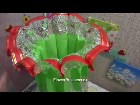 Букет в виде цилиндра BuketSvoimiRukami.ru - YouTube