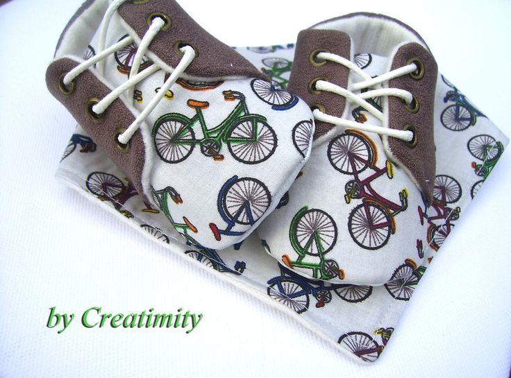 Brown baby boy shoes,oxford shoes,bandana,soft sol from Creatimity by DaWanda.com