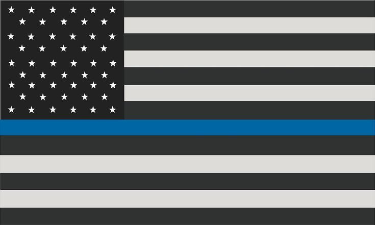 """5"""" Thin Blue Line American Subdued Flag Decal SET USA Police Sticker …"""
