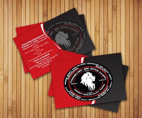 New Business Cards for Chaikong Jiu Jitsu