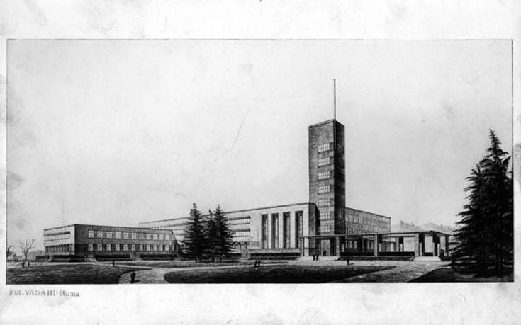Giuseppe Vaccaro Scuola d'Ingegneria di Bologna, 1931-1935, Primo progetto foto Vasari-Roma, 16,3x26,2 cm.