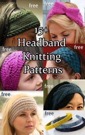 Free knitting patterns for Headbands, Ear Warmers, Head Wraps