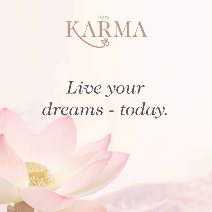 Live your dreams - today. #quotes #goodkarma