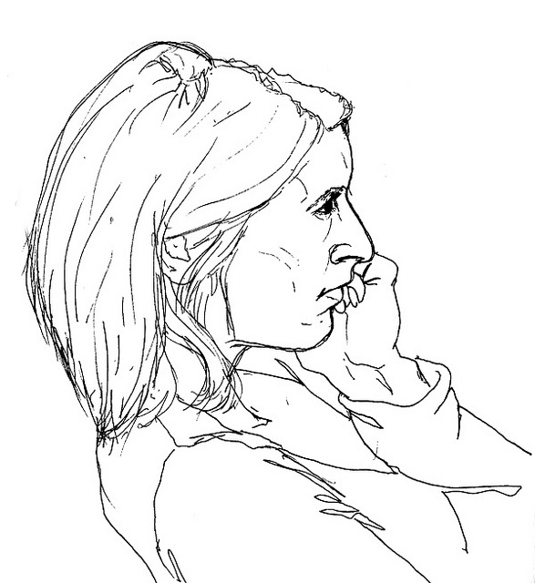 Contour Line Drawing App : Best images about portrait examples on pinterest