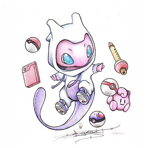 Mew... too? (Pokessentials) by BirdychuArt.deviantart.com on @deviantART