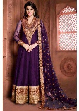 Purple Banglori Silk Anarkali Suit, - £115.00, #PromDresses #FashionableSuit #IndianDresses #Shopkund