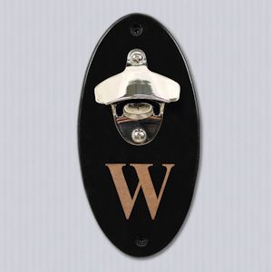 Custom Wall Mounted Bottle Opener from Wedding Favors Unlimited $22.50- good gift for guys