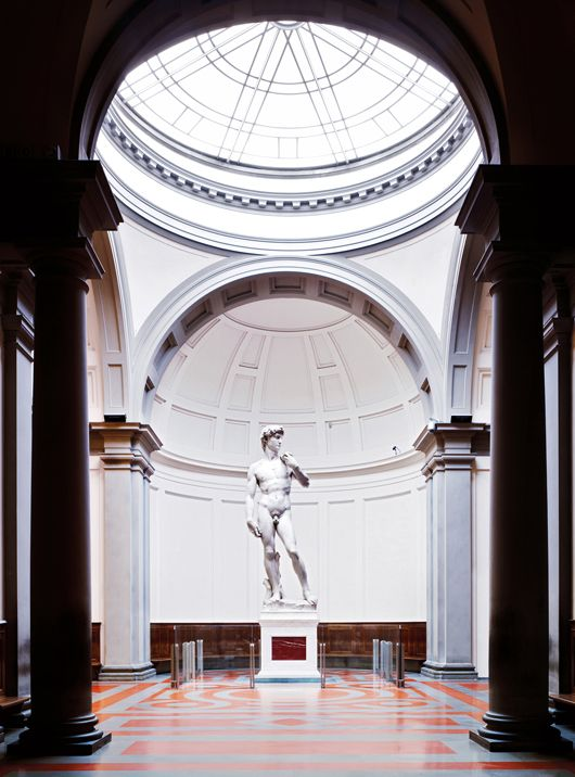 Michelangelo's David, Accademia Gallery in Florence Italy, with the kids this time!