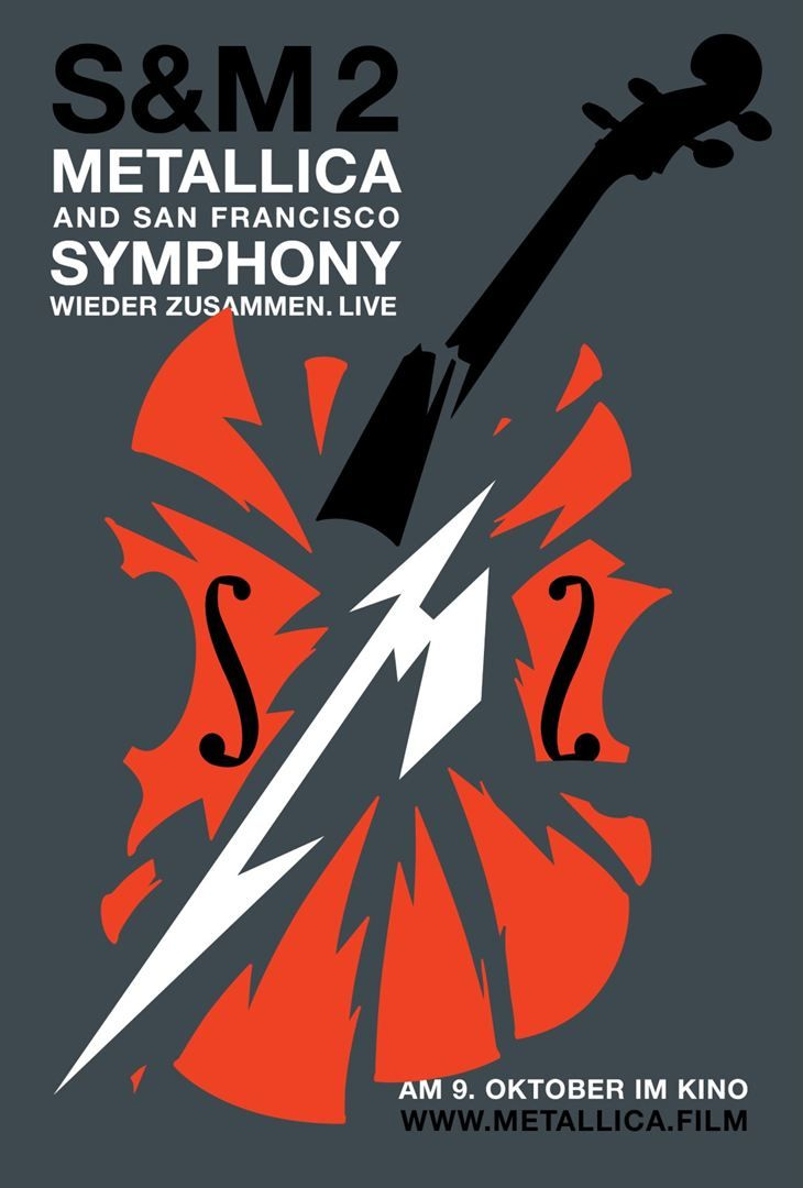 Metallica San Francisco Symphony S M 2 Film Stream German Online Komplett Kostenlose Metallica Rock Poster Cartaz De Filme