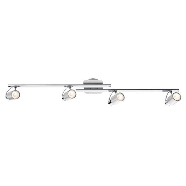 Davina 4 Light Bar Spotlight in Brushed Aluminium | Energy Saving Spotlights | Spotlights | Lighting
