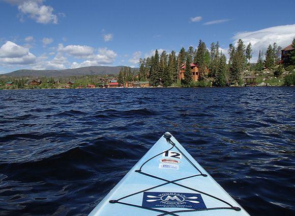 Kayaking Grand Lake, #Colorado. #VisitGrandCounty