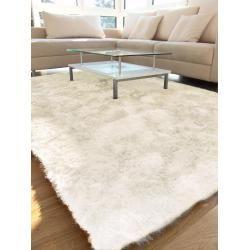 benuta Hochflor Teppich Whisper Weiß 80x150 cm