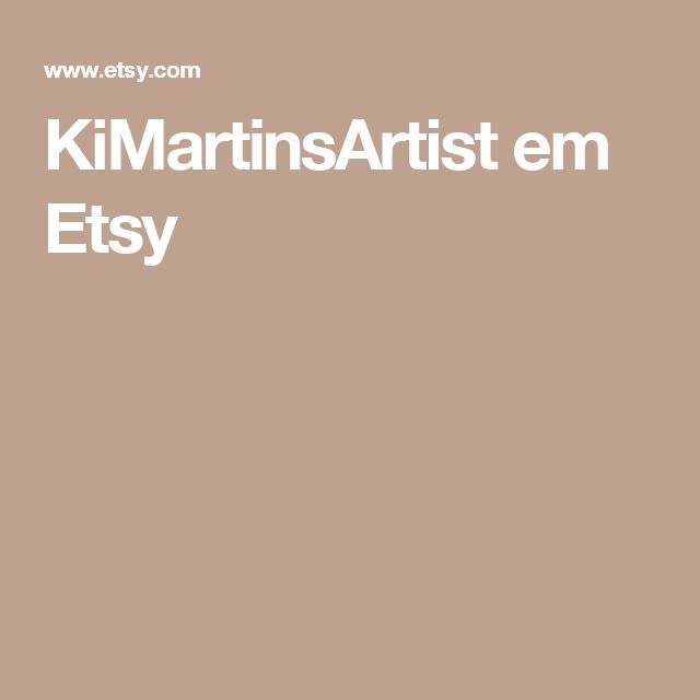 KiMartinsArtist em Etsy