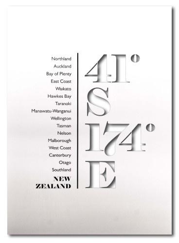 NZ Latitude ~ Wall Art <3