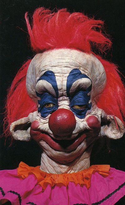 Killer clown from outer space... i watched this movie it was funny but scary too.