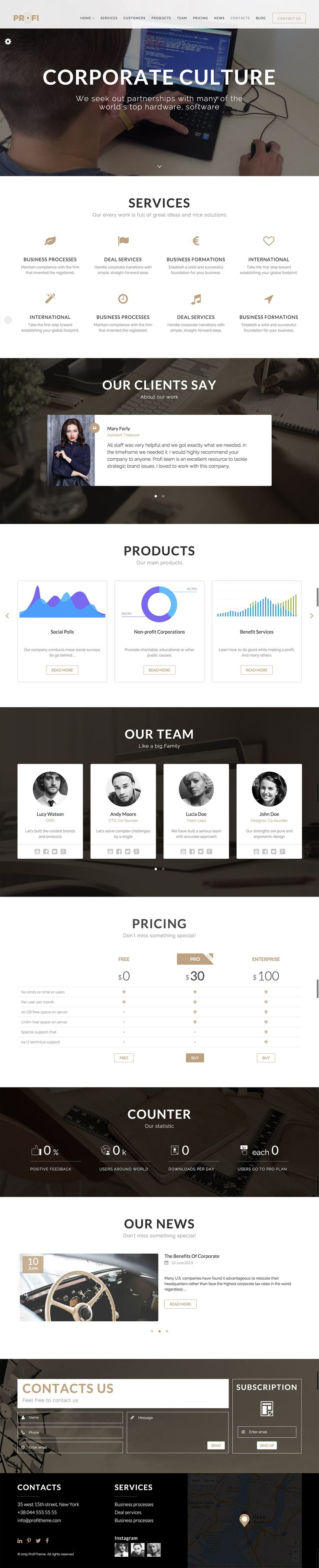 Profi WP will perfectly suit the needs of any modern agency, small and medium business, startup, corporate or personal portfolio. Will fit great on all type of devices: desktop, tablet, mobile phone… - Download theme here : http://themeforest.net/item/profi-business-professional-wordpress-theme/14873668?ref=pxcr