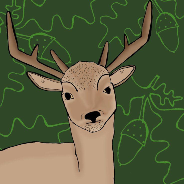 Diseño textil ciervo deer