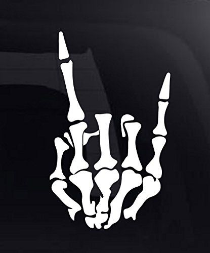 "Rock On Skeleton Hand Vinyl Car Decal / Sticker 8.5"" CRDesign http://www.amazon.com/dp/B00WFSSMW8/ref=cm_sw_r_pi_dp_gqedxb0YDGHS0"