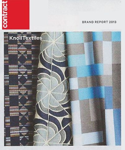 Check It Out Contract Magazine Featured KnollTextiles Collaboration With Alejandro Cardenas In Its 2013 Brand