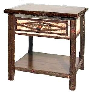 Hickory Furniture Design rustic hickory furniture company table Hickory Furniture Designs 933 End Table
