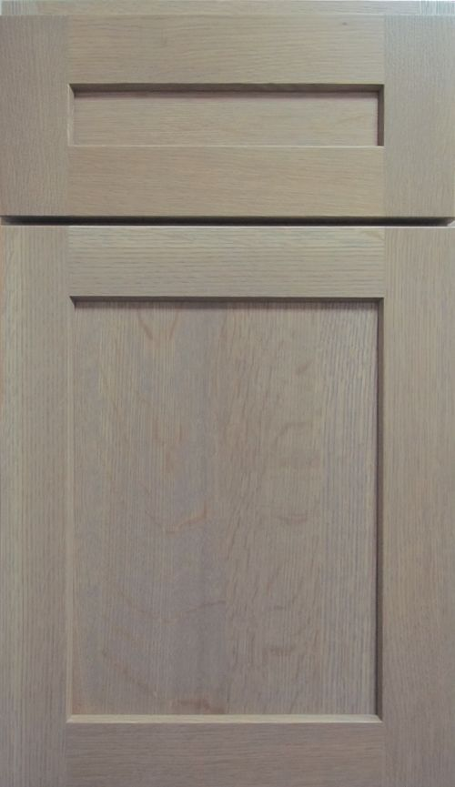 Gray Stained Kitchen Cabinets With White Quarter Sawn Oak