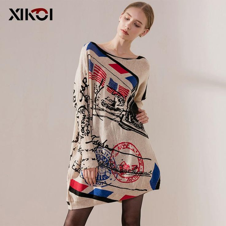 Batwing Sleeve Print Women's Sweaters Clothes Pullover Clothing $30.99 => Save up to 60% and Free Shipping => Order Now! #fashion #woman #shop #diy www.clothesworld....