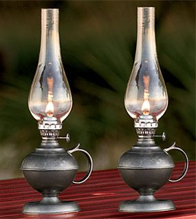 Old Oil Lanterns | pewter oil lantern our vintage pewter oil lamp creates a delightful ...