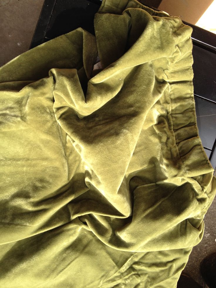 Green olive curtains x2 1100mm each