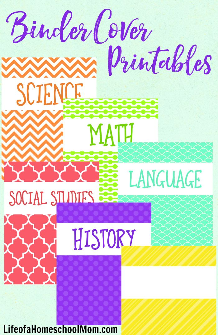 These free printable binder covers are perfect for students and teachers alike!