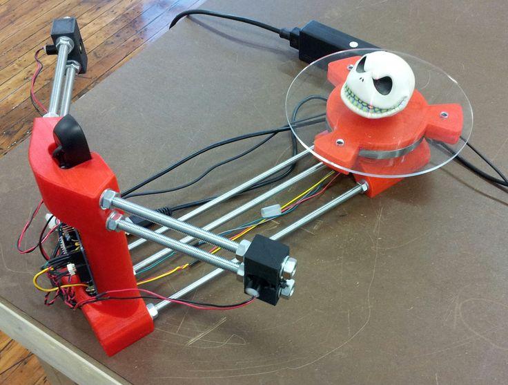 DIY 3D Scanner. Raspberry Pi inside.