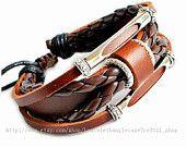 Jewelry bangle leather bracelet women bracelet men bracelet punk rock bracelet made of leather and metal wrist bracelet  SH-2678