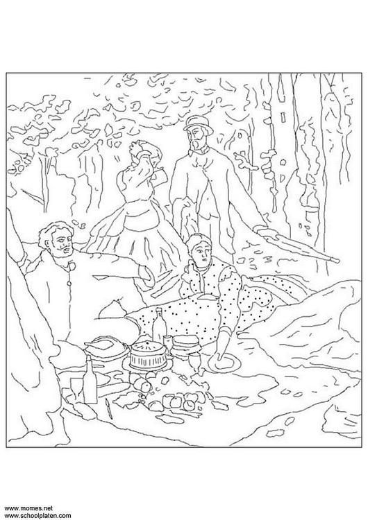 claude monet famous paintings coloring pages