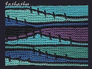 Вяжем волны из остатков пряжи - Ярмарка Мастеров - ручная работа, handmade