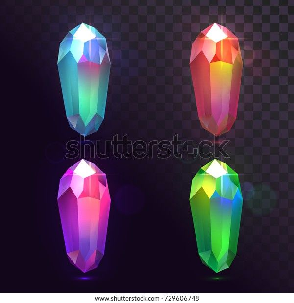 Find Vector Set Crystals Magic Stones Stock Images In Hd And Millions Of Other Royalty Free Stock Photos Illustration In 2021 Gem Drawing Magic Stones Crystal Drawing