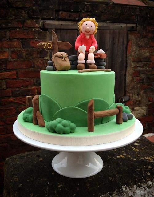 Hiking Birthday Cake | por Quite Contrary Cakes