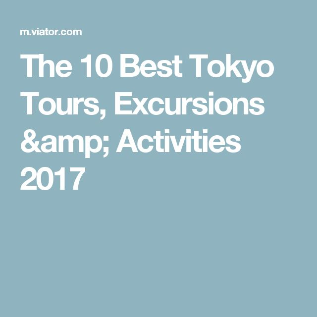 The 10 Best Tokyo Tours, Excursions & Activities 2017