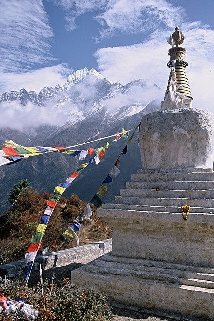 Adding this to my bucket list - places I have to see before I die - Tenzing Chorten, Everest Trail, Nepal (by FreddieZB).