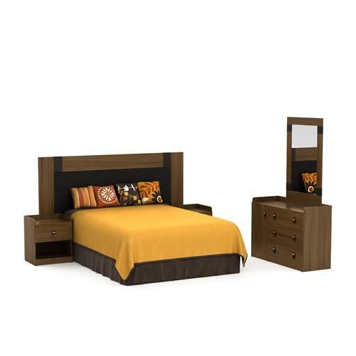 Recámara matrimonial Roal 5 piezas estilo contemporáneo - Famsa.com®