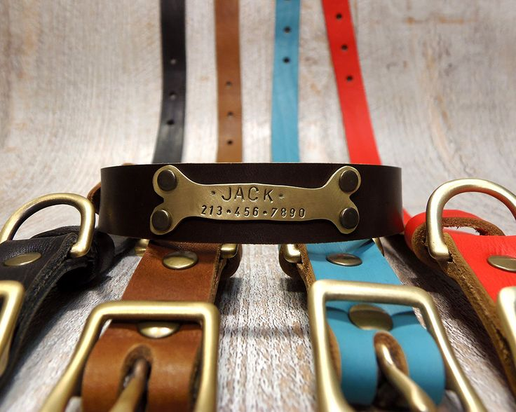 Dog Collar, Handmade collar, Personalized Dog Collar, Dog Collar Leather, Leather Collar, Leather Dog Collar, Dog Collar Personalized, by VacForPets on Etsy