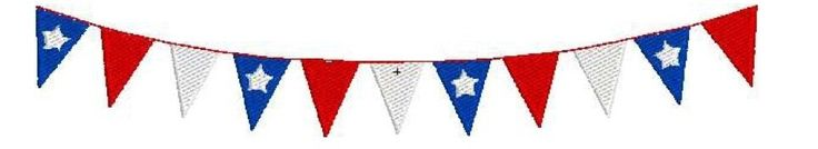 Machine Embroidery Design 4th of July Patriotic Red,White and Blue Bunting Banner With Stars by 21Reasons on Etsy https://www.etsy.com/listing/187562003/machine-embroidery-design-4th-of-july