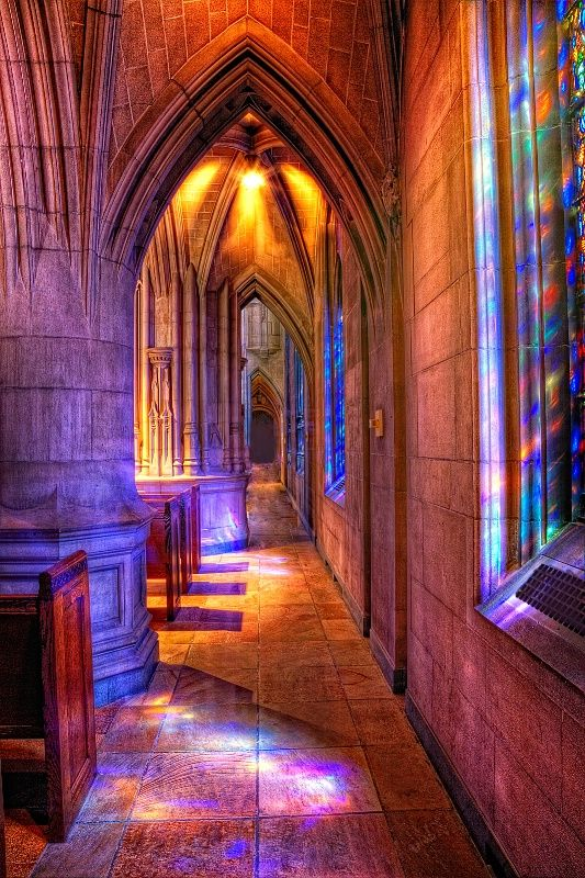 Love gothic church architecture and stained glass!!!     Heinz Chapel, Pittsburgh, Pennsylvania. Photo by: Judy Kennamer