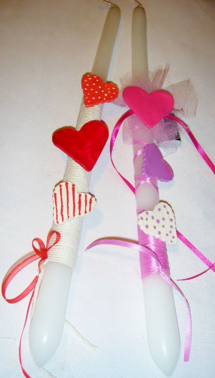easter candle heart
