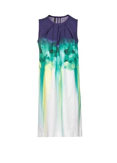 MANGO - Watercolor floral print dress