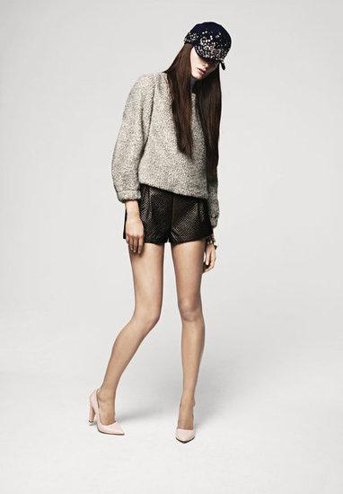 H Fall 2012: Leather Shorts,  Minis, Autumn, Fall Lookbook, Fall2012, Pale Pink, Fall 2012, Baseb Cap, 2012 Lookbook