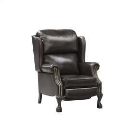 Elran W0032 Reclining Wingback Chair in Dark Brown Leather