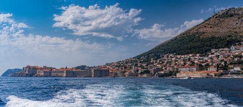 Leaving Dubrovnik in a taxi boat Dubrovnik, Croatia